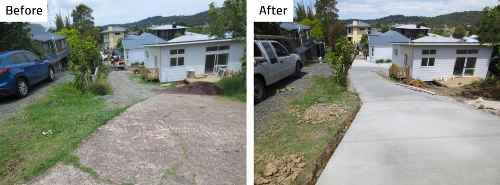 Before and After Concrete Driveway by CDSL Concrete Direct Services Ltd