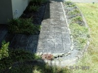 Pathway to front door, older stamps used here. We have most stamps, shapes and sizes for your project.